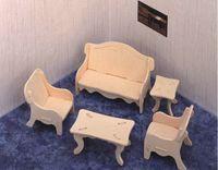 """Сборная деревянная модель """"Мебель для отдыха"""""""