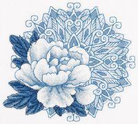 """Вышивка крестом """"Дивный цветок"""""""