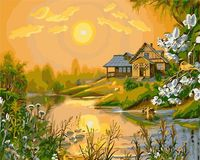 "Картина по номерам ""Летний закат"" (400х500 мм)"