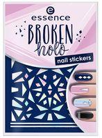 """Наклейки для дизайна ногтей """"Broken Holo"""" тон: 12"""