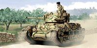 """Средний танк """"Matilda MK. II"""" (масштаб: 1/72)"""