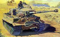 "Тяжелый танк ""Sd.Kfz.181 Ausf.E Tiger I Late Production w/Zimmerit"" (масштаб: 1/72)"