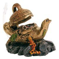 """Декорация для аквариума """"Волшебная лампа"""" с воздухоотводом (12 см, арт. 8989)"""