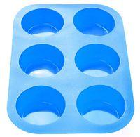 Форма силиконовая для выпекания кексов (260x175x30 мм; голубая)