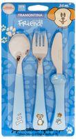 Набор столовых приборов для детей (3 предмета; голубой)