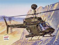 """Вертолет """"Bell OH-58D Kiowa"""" (масштаб: 1/48)"""