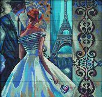 """Вышивка крестом """"Эффектные женщины в роскошных местах. Париж"""""""