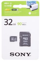 Карта памяти microSD SONY SR32UY3AT 32GB SDHC Class 10 UHS-1 + адаптер на SD