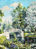 "Картина по номерам ""Мостик в парке"" (300х400 мм)"