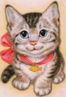 """Алмазная вышивка-мозаика """"Кот с бантом"""""""