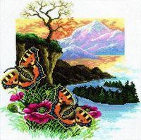 "Вышивка крестом ""Бабочка. Крапивница"" (300x300 мм)"