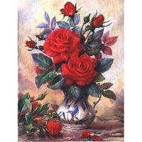 """Алмазная вышивка-мозаика """"Прекрасные розы"""" (300x400 мм)"""