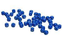 Кубик D6 (синий; арт. zar-blue)