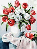 """Картина по номерам """"Красные и белые"""" (400х300 мм)"""