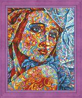 """Картина по номерам """"Витражный портрет"""" (400х500 мм)"""