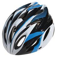 """Шлем велосипедный """"WT-012"""" (чёрный/синий/белый)"""