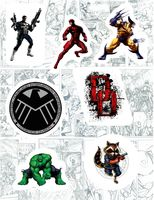 "Набор виниловых наклеек №135 ""Marvel"""