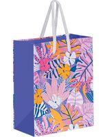 "Пакет бумажный подарочный ""Pink Jungle"" (14х11х6,5 см)"