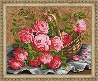"Картина по номерам ""Розы из сада"" (400х500 мм)"