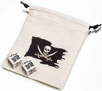 "Набор кубиков ""Pirate Dice & Bag"" (2 шт.; белый)"