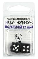 """Набор кубиков D6 """"Изморозь"""" (12 мм; 2шт; черный)"""
