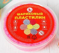 Пластилин шариковый (розовый; арт. Р1216)