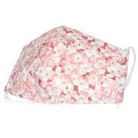 """Маска защитная для лица """"Цветы"""" (14,5х23 см; розовая)"""