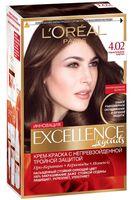 """Крем-краска для волос """"Excellence"""" (тон: 4.02, пленительный каштан)"""