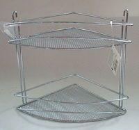 Полка для ванной угловая металлическая 2-ярусная (261х206х288 мм)