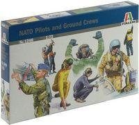 """Набор миниатюр """"Пилоты и обслуживающий персонал НАТО"""" (масштаб: 1/72)"""