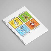 """Блокнот в клетку """"Futurama"""" (А5; арт. 008)"""