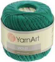 "Пряжа ""YarnArt. Violet №6334"" (50 г; 282 м; изумрудно-зеленый)"