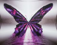 "Алмазная вышивка-мозаика ""Бабочка"" (400х500 мм)"