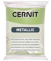 """Глина полимерная """"CERNIT Metallic"""" (зеленое золото; 56 г)"""
