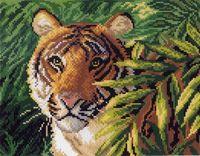 """Канва с нанесенным рисунком """"Индокитайский тигр"""""""