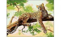 """Картина по номерам """"Леопард на ветке"""""""