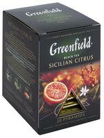 """Чай черный """"Greenfield. Sicilian Citrus"""" (20 пакетиков)"""