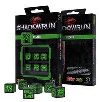 """Набор кубиков D6 """"Shadowrun. Decker"""" (16 мм; 6 шт.; черно-зеленый)"""