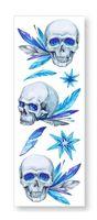 """Набор татуировок для тела """"Skulls"""""""