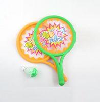 Набор для игры в теннис и бадминтон (2 ракетки, воланчик, мячик)