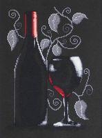 "Вышивка крестом ""Бутылка с вином"" (200х290 мм)"