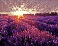 """Картина по номерам """"Закат над лавандовым полем"""" (500х650 мм)"""