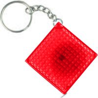 Брелок-рулетка из светоотражающего материала (красный, 1 метр)