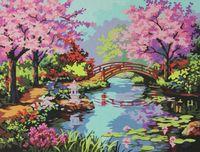 """Картина по номерам """"Мостик в саду"""" (400x500 мм)"""