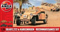 "Набор техники ""Sd.Kfz.222 & Kübelwagen"" (масштаб: 1/76)"