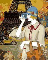 """Картина по номерам """"Хелена Лам. Парижские приключения"""" (400х500 мм)"""