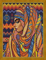 """Алмазная вышивка-мозаика """"Красавица из Того"""" (300х400 мм)"""