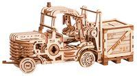 """Сборная деревянная модель """"Механический погрузчик с копилкой"""""""