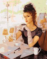 "Картина по номерам ""В парижском кафе"" (500х400 мм)"