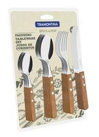 Набор столовых приборов металлических с деревянными ручками (16 предметов, арт. 22399003)
